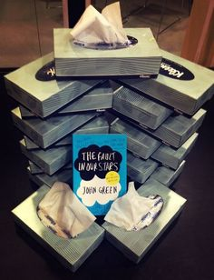 The Fault In Our Stars - that's about how many tissues I am using right now... And I'm not even done with it!!!!!