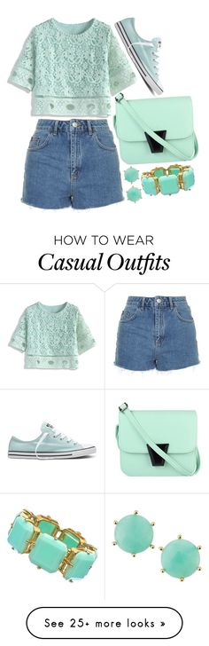 """casual conversations"" by dreaming-wonderland on Polyvore featuring Topshop, Chicwish, Converse, Panacea and Blu Bijoux"