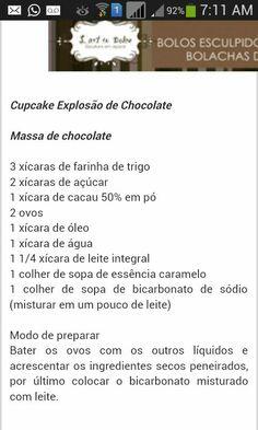 Cupcake explosão de chocolate
