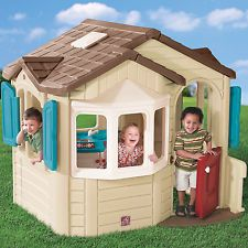 Playhouse Step 2 Outdoor Cottage For Kids Childrens Backyard Pretend Play House