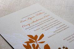 Fall Flowers Wedding Invitation DIY Printable PDF. $35.00, via Etsy.
