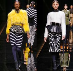 Balmain 2014-2015 Fall Autumn Winter Womens Runway Looks - Paris Fashion Week Mode à Paris Prêt à Porter Défilés - Safari Cargo Pockets Pant...