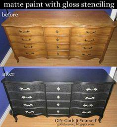 Goth diy furniture black  more for me than tiffany :P