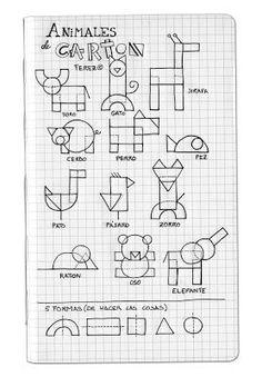 El abuelo pinta: Animales con polígonos Taller d'animals de cartró per nens
