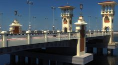 Stanley Bridge Alexandria is a 400 meter-long proudly standing Egyptian modern monument. Go ahead, walk along the corniche, sample the Alexandrian