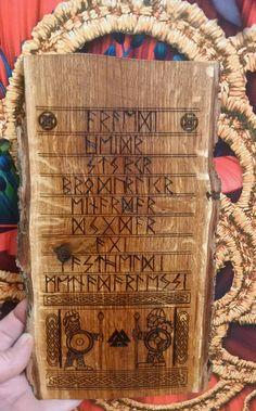 Nine virtues of Warior, Virtues wall plaque, Norse, Viking, Altar, Norse home, Viking decor, Asatru, Altar, Heathen, Pagan, Viking gift
