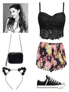 """Casual Ariana Grande Concert outfit"" by shabby-chic24 ❤ liked on Polyvore featuring Boohoo, Converse, Charlotte Russe and Zara"