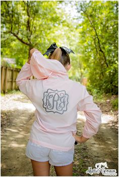 Monogram Rain Jacket, Monogrammed Pack N Go Pullover, Monogrammed Wind breaker, Monogram Jacket by PoshPrincessBows1 on Etsy