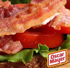 A esta hora, nuestra felicidad se define por el tamaño de nuestra comida. ¡Buen provecho! #KraftRD #KraftFood #Bacon #Instafood #lunch #lunchtime