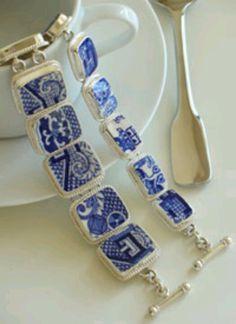 Pretty bracelet from broken dishes