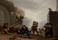 Francisco de #Goya, Children Fighting and Playing See-Saw, 1785-1786. | Kavga Eden ve Tahterevalliye Binen Çocuklar, 1785-1786.