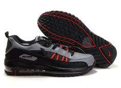 Q857Gr Nike Air Max Tn Shoes Mens Red/Black/Grey