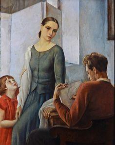 In the Artist's Studio by Louis Buisseret (1888-1956), Belgian (artistsandart)