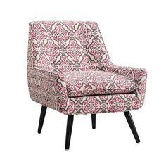 Transform your master suite or living room into a breezy bohemian haven with this far-flung arm chair, evocative of vibrant Indian bazaars and lavish Moroccan palaces. Blooming with an intricate motif and a midcentury-inspired silhouette, this accent piece is perfect paired with an exotic array of ornately patterned textiles, tasseled throws, and velvet pillows.