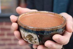 Estilo Maya bebida espumosa de CHOCOLATE