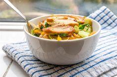 Wok poulet et petits légumes