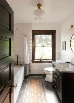 vintage style bathroom in craftsman home