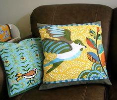 Anthro dish towel pillows