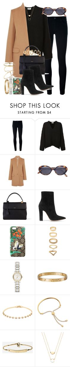 """""""Sin título #4246"""" by hellomissapple ❤ liked on Polyvore featuring Levi's, Acne Studios, STELLA McCARTNEY, Oliver Peoples, Yves Saint Laurent, Gianvito Rossi, Gucci, Forever 21, Burberry and Cartier"""