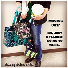 This struggle is real for teachers. But I refuse to buy a rolling cart! Visit Class of Kinders on FB.