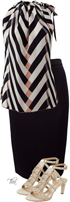 Givenchy Pencil Skirt, Lanvin Top & Sandals