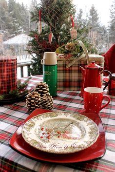 Aiken House & Gardens: A Plaid Winter Picnic