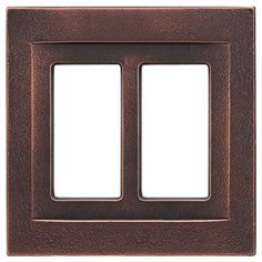 Somerset Collection Contemporary 2-Gang Oil Rubbed Bronze Wall Plate