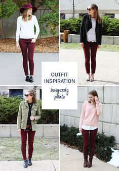 14 ways to wear burgundy pants — Cotton Cashmere Cat Hair Maroon Cardigan  Outfit cc006f764