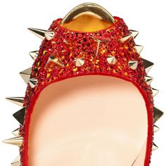 Louboutin Sehr Mix 150mm Strass Pumps Rot2 #redbottomshoes