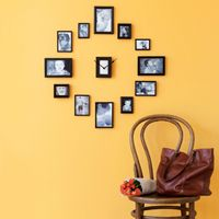 "This would be so easy!   I great DIY variation on the ""photo clock"" you can buy... Love it!"