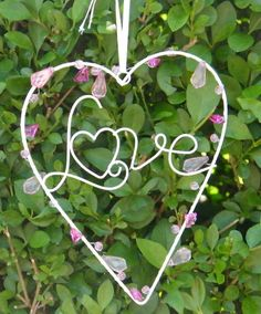 Love Heart Wire Decoration Chic