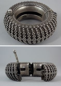 India | Silver bracelet from Rajasthan | 19th century