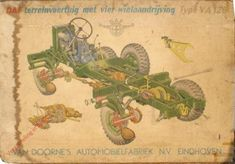 Verzameling in beeld - DAF Terreinvoertuig met vierwielaandrijving. Type YA 126