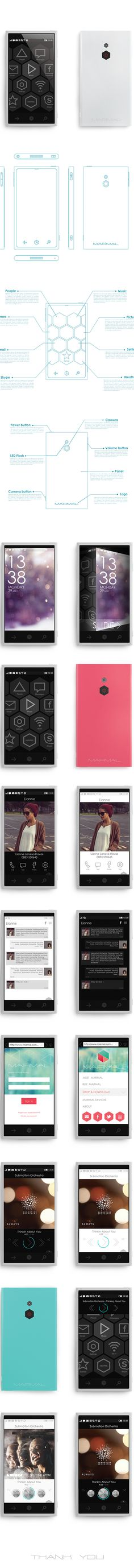 Mobile Software Marmal by Monika Kusheva, via Behance