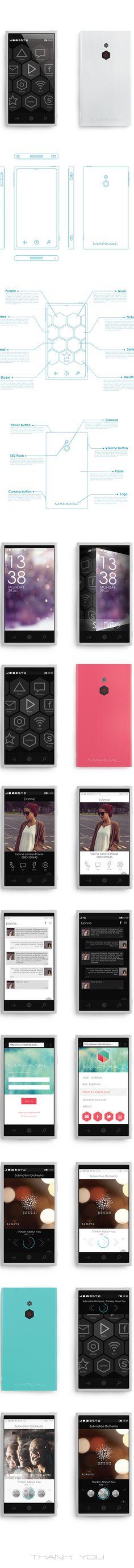 Mobile Software Marmal by Monika Kusheva, via Behance