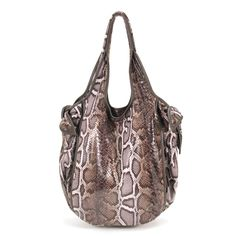 Kooba Faux-Snake Carmine Hobo in Brown for sale online from Carolina Boutique in Mill valley