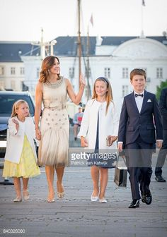 Princess Josephine of Denmark, Crown princess Mary of Denmark, Princess Isabella of Denmark, Prince Vincent of Denmark and Prince Christian of Denmark attend the 18th birthday celebration of Prince...