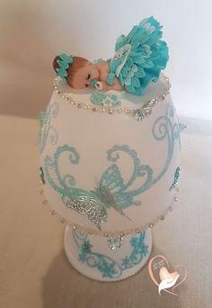 Lampe de chevet blanche bébé fille turquoise - au cœur des arts - Enfants - Au coeur des Arts