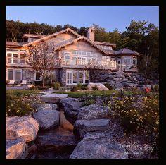 Seaside cedar timber home