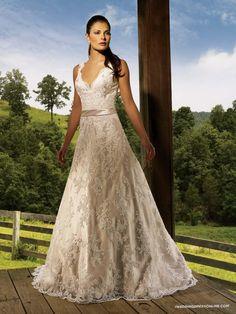 Attractive Satin V-neckline A-line Wedding Dress Is Your Favourite | Wedding Dress Online Cheap