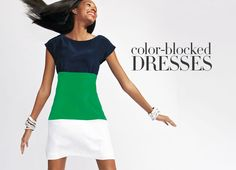 Color-blocked dresses