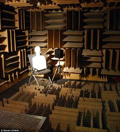 They say silence is golden – but there's a room in the U.S that's so quiet it becomes unbearable after a short time.  The longest that anyone has survived in the 'anechoic chamber' at Orfield Laboratories in South Minneapolis is just 45 minutes.  It's 99.99 per cent sound absorbent and holds the Guinness World Record for the world's quietest place, but stay there too long and you may start hallucinating.