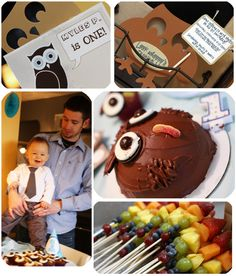 Owl Themed 1st birthday party. More ideas on the blog :)
