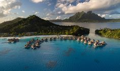 Enjoy 5 romantic nights in an Overwater Villa at the Conrad Bora Bora Nui. Explore the island on a sunset cruise, by Jet Ski, take a Tour, and more! Tahiti Vacations, Bora Bora Resorts, Hotels And Resorts, Bora Bora Island, Tahiti French Polynesia, Best Honeymoon Destinations, Overwater Bungalows, Resort Spa, Where To Go