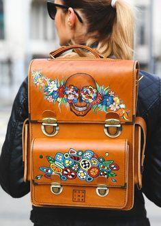 Handmade Turkish Leather Backpack/Messanger Bag