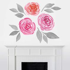 Roses for mom? Brighten her day (and her home!) with Martha Stewart Wall Art Decals from @Fathead!