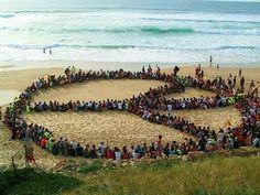 peace-wonderful feeling..like a drum circle