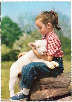 The sheep also feel of love Animals For Kids, Farm Animals, Animals And Pets, Cute Animals, Beautiful Children, Animals Beautiful, Cute Kids, Cute Babies, Animal Pictures