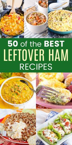 50 Recipes for Leftover Ham - sometimes the best part of the holiday meal is what you make with the leftovers! Turn that Easter or Christmas ham into a delicious soup, pasta dish, or sandwich, add it to eggs, pizza, and so much more!