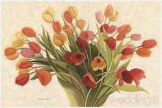 Great Big Canvas 'Spring Tulips' by Shirley Novak Painting Print Size: H x W x D, Format: Black Framed Canvas Art Prints, Painting Prints, Canvas Wall Art, Fine Art Prints, Framed Prints, Big Canvas, Canvas Size, Paintings, Art Floral